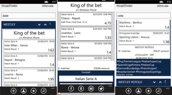 #KingOfTheBet per Windows Phone 8 si aggiorna, 20 codici redeem ..
